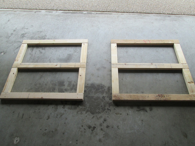 Top and bottom frames assembled